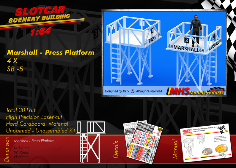 Slotcar Scenery Building Marshall & Press Platform 1-64